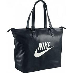 Сумка спортивная женская Nike Heritage SI Tote черная с белым