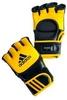Перчатки тренировочные Adidas ММА/Combat желто-черные - фото 1