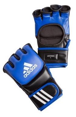 Перчатки тренировочные Adidas ММА/Combat сине-черные