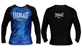 Рашгард с длинным рукавом Everlast CO-3758 черно-синий - M