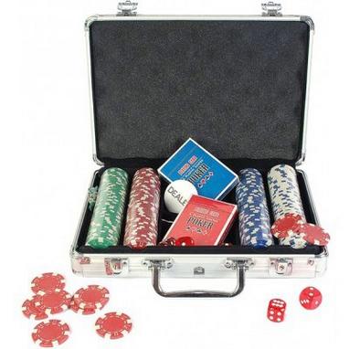Набор для игры в покер в алюминиевом кейсе 200 фишек CG-11200