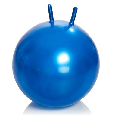 Мяч для фитнеса (фитбол) с рожками 65 см Profiball синий