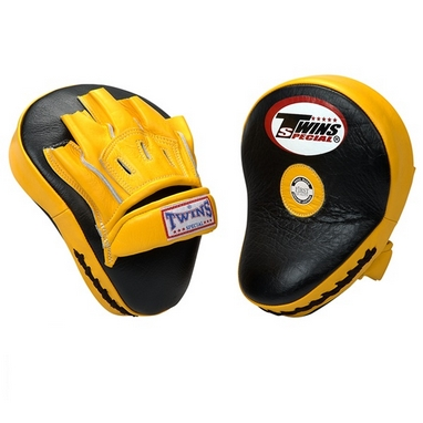 Лапы боксерские Twins PML-10 желтые с черным
