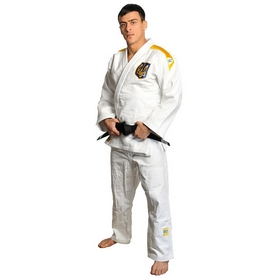 Кимоно для дзюдо Professional IJF Green Hill белое - 185 см
