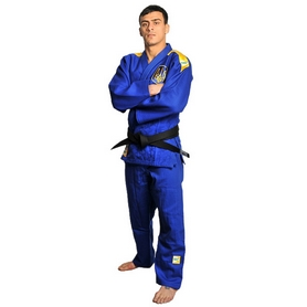 Кимоно для дзюдо Professional IJF Green Hill синее (модель 2015)