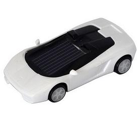 Фото 1 к товару Машинка на солнечной батарее Solar Ламборджини белая
