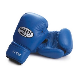 Фото 1 к товару Перчатки боксерские Green Hill Gym синие