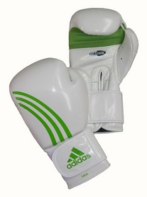 Фото 1 к товару Перчатки боксерские Adidas Box-Fit бело-зеленые