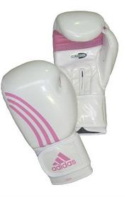 Фото 1 к товару Перчатки боксерские Adidas Box-Fit бело-розовые