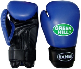 Перчатки боксерские детские Green Hill Hamed синие - 6 Oz