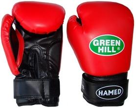 Фото 1 к товару Перчатки боксерские Green Hill Hamed красные