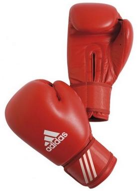 Перчатки боксерские Adidas AIBA красные