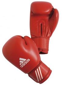 Фото 1 к товару Перчатки боксерские Adidas AIBA красные