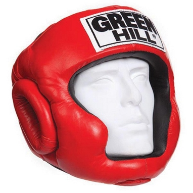 Шлем боксерский Green Hill Club красный
