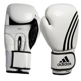 Фото 1 к товару Перчатки боксерские Adidas Box-Fit бело-черные