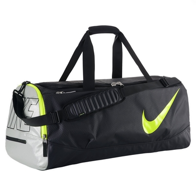 Сумка спортивная Nike Court Tech Duffle черно-салатовая