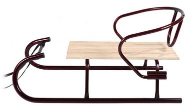 Санки зимние Овен 560 со спинкой бордовые