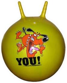 Мяч попрыгун с рожками Disney 45 см желтый