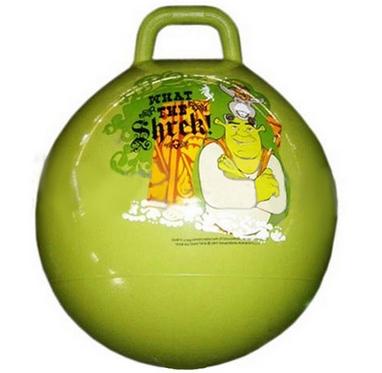 Мяч попрыгун с ручкой Disney 45 см зеленый