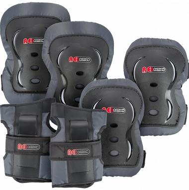 Защита для катания (комплект) Reaction 3-pack protective set черная
