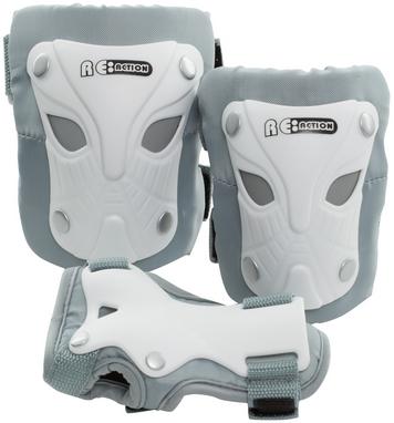 Защита для катания детская (комплект) Reaction Kid's 3-Pack Protective Set бело-серебристая