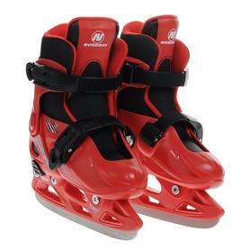 Коньки раздвижные детские Nordway CLICK-BOY Kid's adjustable ice skates красные