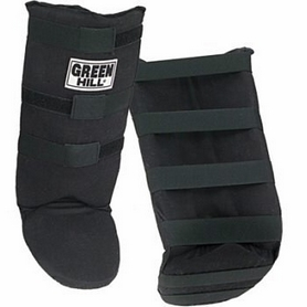 Защита для голени и стопы Green Hill черная - L