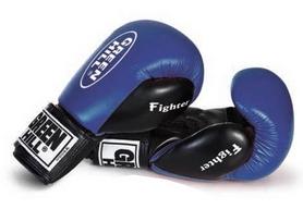 Перчатки боксерские Green Hill Fighter синие - 12 oz