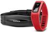 Браслет спортивный с датчиком частоты биения сердца Vivofit Red HRM Bundle - фото 1