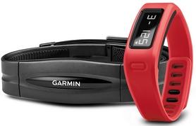 Браслет спортивный с датчиком частоты биения сердца Vivofit Red HRM Bundle