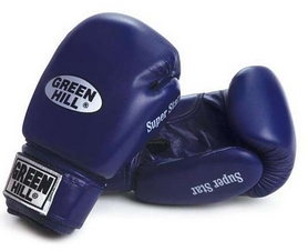 Фото 1 к товару Перчатки боксерские Green Hill Super Star синие