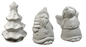 Фото 2 к товару Комплект из 3-х декоративных фигурок Ангел/Елка/Санта Luca Lighting