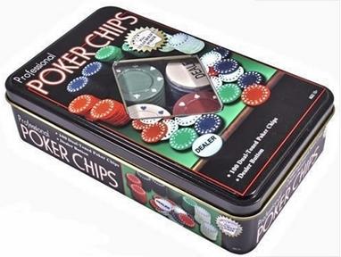 Набор для игры в покер в оловянном кейсе Duke TC11100