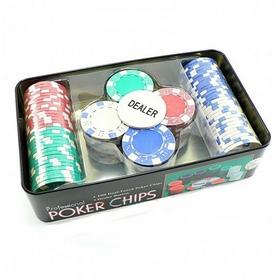 Фото 2 к товару Набор для игры в покер в оловянном кейсе Duke TC11100