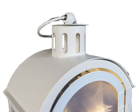 Фото 2 к товару Фонарь декоративный Luca Lighting 11х7,5х20 см белый
