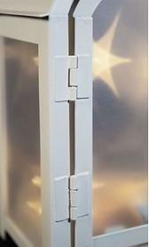 Фото 4 к товару Фонарь декоративный Luca Lighting 11х7,5х20 см белый