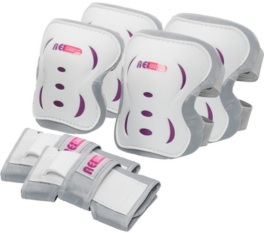 Защита для катания (комплект) Reaction 3-pack protective set серая
