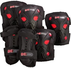 Фото 1 к товару Защита для катания детская (комплект) Reaction Kid's 3-Pack Protective Set черно-красная