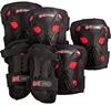 Защита для катания детская (комплект) Reaction Kid's 3-Pack Protective Set черно-красная - фото 1