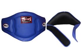 Пояс тренера кожаный Twins BEPL-3-BU синий