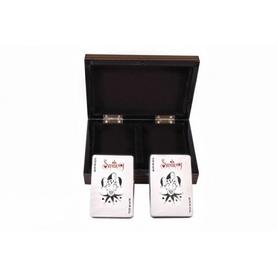 Фото 2 к товару Две колоды карт в деревянной коробке Duke B11L