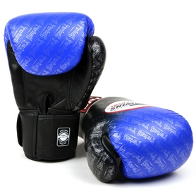 Фото 1 к товару Перчатки боксерские Twins FBGLL-TW1-BU синие