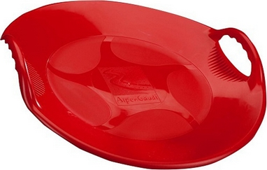 Санки-тарелка зимние Alpen Gaudi Alpen Ufo красные