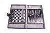 Набор из 3 игр в кожаном кейсе (шахматы, шашки, нарды) Duke SG1150 - фото 1