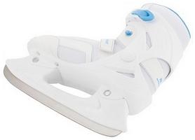 Фото 2 к товару Коньки ледовые женские Nordway LEA Women's fitness ice skates бело-голубые