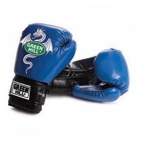 Распродажа*! Перчатки боксерские Green Hill Dragon синие - 10 Oz