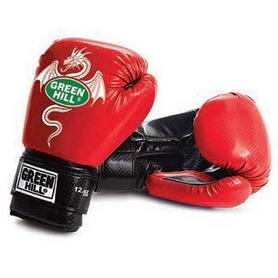 Фото 1 к товару Перчатки боксерские Green Hill Dragon красные