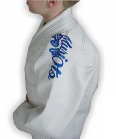 Фото 7 к товару Кимоно для бразильского джиу-джитсу детское Muri Oto Kiddo 0300 белое