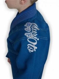 Фото 5 к товару Кимоно для бразильского джиу-джитсу детское Muri Oto Kiddo 0302 синее