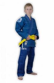Кимоно для бразильского джиу-джитсу детское Muri Oto Kiddo 0302 синее